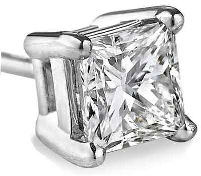 Men Princess diamond stud
