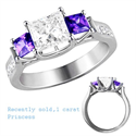Picture of Crisscross style three stones ring