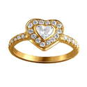 Picture of Heart diamond  ring 0.70 carats