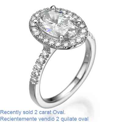 Oval or Cushion Halo engagement ring