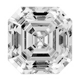 Picture of asscher cut diamond