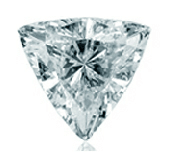 Picture of triangle cut diamond