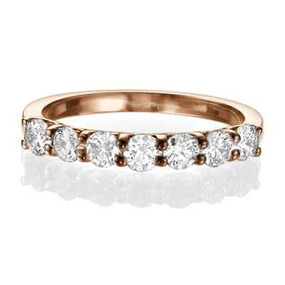 0.90 Carat 7 floating diamond ring