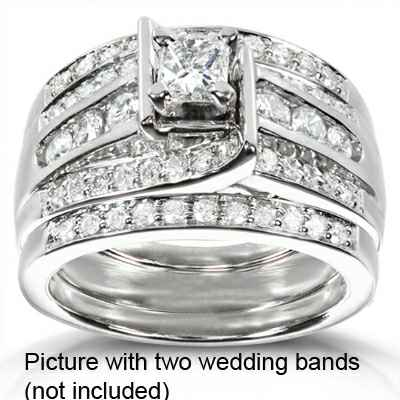 Engagement ring with 1.52 carat side diamonds
