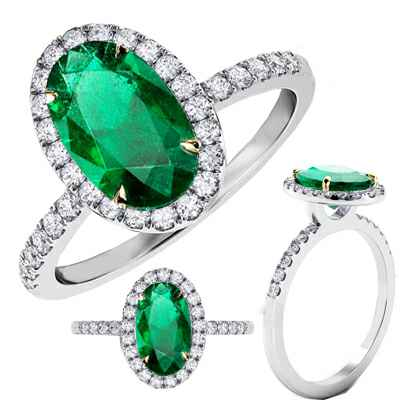 1.45 carat Oval, Natural bright Green Emerald