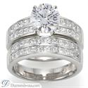 Foto Juego de anillos nupciales, laterales Princesa de 2 quilates de