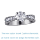 Picture of Crisscross engagement ring with diamonds