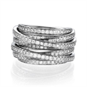Picture of 1.50 carat anniversary or cocktail diamond ring