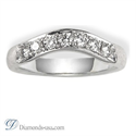 Picture of Curved Wedding ring, 0.33 carat diamonds