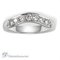 Foto Anillo de boda, diamantes de 0,33 quilates de