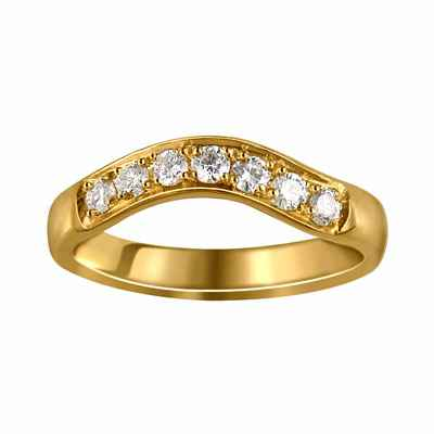 Anillo de boda, diamantes de 0,33 quilates