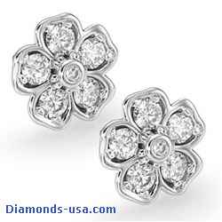 0.50 Carat Heart designers earrings,