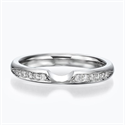Picture of Notched -Wedding or anniversary ring with side diamonds
