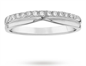Picture of Diamond wedding ring-3mm with a notch