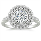 Picture of Art deco Halo designers Engagement ring
