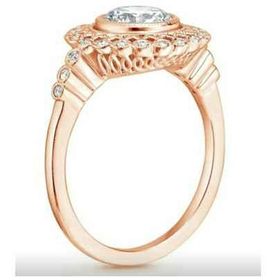 Art deco Halo designers Engagement ring