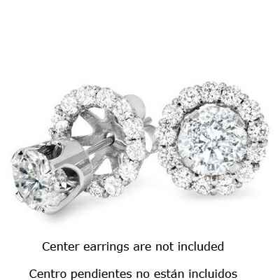 Diamonds Halo earring Jacket 0.80 carats