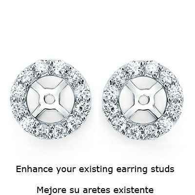 Diamonds Halo earring Jacket 0.71 carats