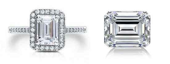 Pictures of emerald cut diamonds