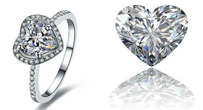 Pictures of heart shaped diamonds