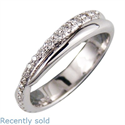 Picture of The Flowing -Wedding or anniversary ring with side diamonds