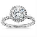 Picture of Delicate Halo engagement ring