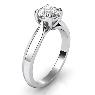 The new Criss Cross Solitaire engagement ring