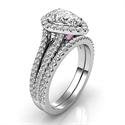 Foto Conjunto nupcial Halo con 106 diamantes de