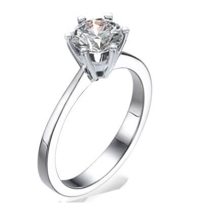 New  Martini prongs head diamond engagement ring