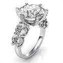 Picture of Diamond ring for large diamonds