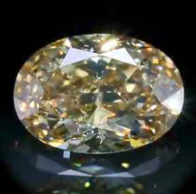Picture of 2.05 Carats, Oval Diamond with Very Good Cut, Natural fancy Brown Yellow, SI2 GIA