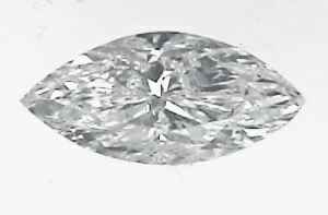 Picture of 0.57 Carats, Marquise Diamond with Good Cut, D Color, SI1 Clarity and Certified By EGS/EGL