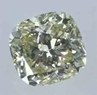 Foto 370553 diamantes con claridad realzada Corte Cojín 0.78Q Fancy Yellow VS1 Very Good  de