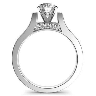 Designers Cathedral engagement ring with side stones
