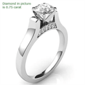 Picture of Designers Cathedral engagement ring with side stones