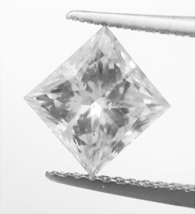 Picture of 1.58 Carats, Princess Diamond with Very Good Cut , I color, SI1 clarity C.E and Certified by IGL