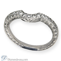Picture of Hand engraved matching wedding engagement ring with diamonds