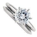 Picture of Classic solitaire engagement & wedding rings set