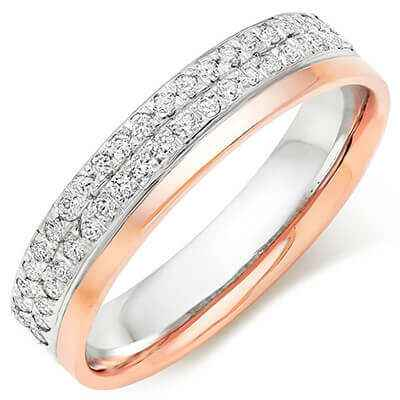 1/3 carat diamonds wedding band, 4.5mm wide