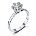 Solitaire engagement ring, Martini shape with 6 prongs