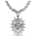 Picture of Cluster pendant for Oval diamonds