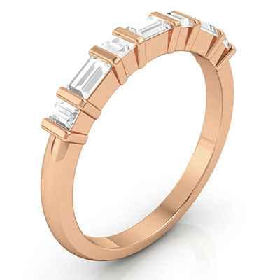 0.46 quilates Baguette banda de diamantes, el partido de Jid 651833