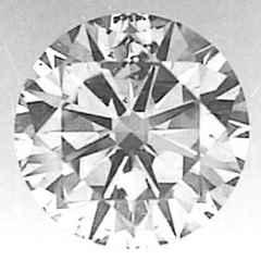 Foto 0.55 quilates diamante redondo D-SI3 Corte Ideal de