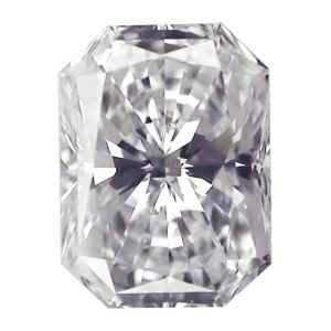 Picture of 0.61 Carats, Radiant Diamond with Ideal Cut, D Color, VVS2 Clarity and Certified By EGL