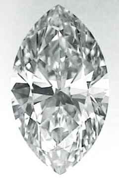 Picture of 0.7 Carats, Marquise Diamond with Very Good Cut, I Color, VVS1 Clarity and Certified By CGL