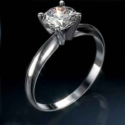 cheap engagement ring, Tiffany style solitaire