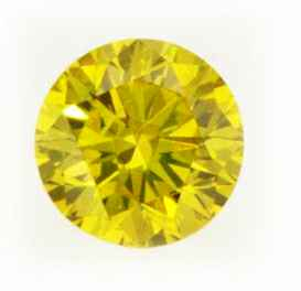 Picture of 0.72 Carats, Round Diamond with Ideal Cut, Fancy Yellow Color, VS2 Clarity and Certified By EGS/EGL