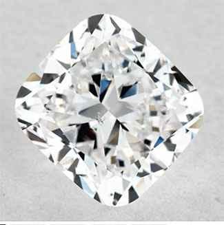 Foto 0.8 quilates, diamante de cojín con muy buen corte, color F, claridad VS2 y certificado por IGL de