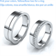 Picture of Duo wedding bands , flat court 5.5mm