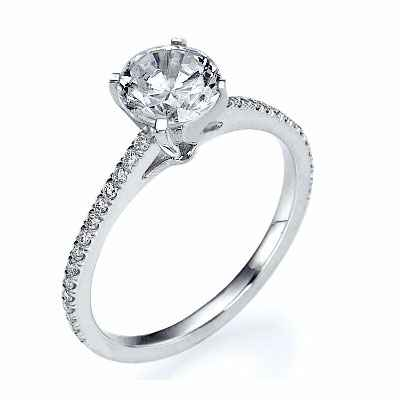 The Delicate engagement  ring settings,